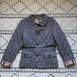 Burberry Quilted Jacket with belt XS